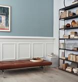 PK80 深啡色優雅皮革坐臥兩用沙發