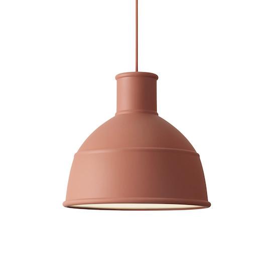 UNFOLD PENDANT LAMP IN TERRACOTTA COLOUR