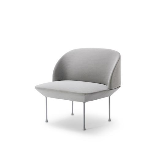 OSLO 浅灰色布艺休闲椅