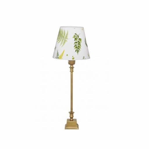 1065-20 + 1000 TABLE LAMP IN COHIBA/STENSÖTA GRÖN/VIT LAMP SHADE