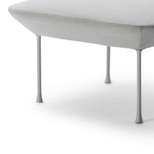 OSLO 浅灰色布艺沙发長凳