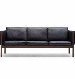 CH163实心胡桃木3座位沙发