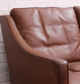 2209 3-SEATER SOFA IN WALNUT LEATHER