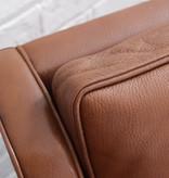 2209 三座位胡桃木色真皮沙發