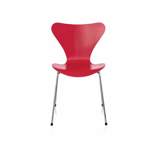 3177 SERIES 7可叠放红色儿童椅子
