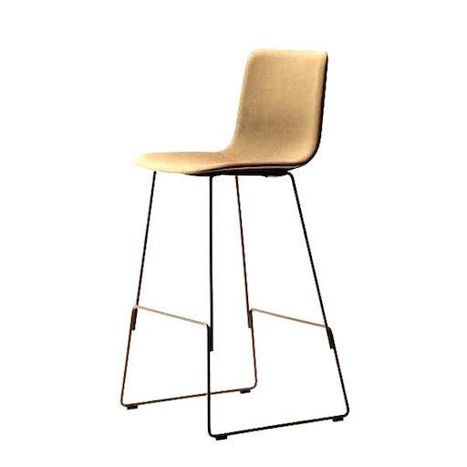 4302 PATO 胡桃色真皮酒吧椅