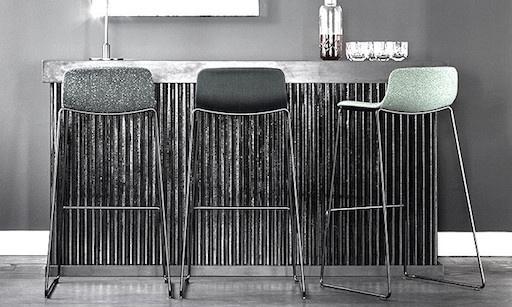 4312 PATO 灰色皮革高凳