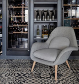 1770 SWOON LOUNGE CHAIR IN FABRIC