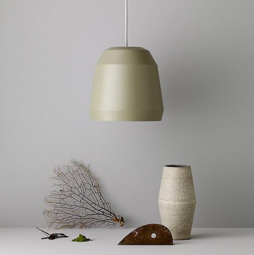 MINGUS 2 淡苔色哑光漆铝吊灯