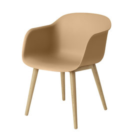 FIBER ARMCHAIR IN OCHRE COLOUR
