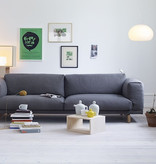 REST 3-SEATER SOFA IN DARK GREY FABRIC