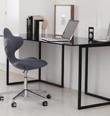 ACTIVE 可調高度的旋轉黑/白色布质椅子