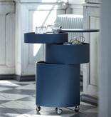 BARBOY蓝色圆柱形酒吧柜