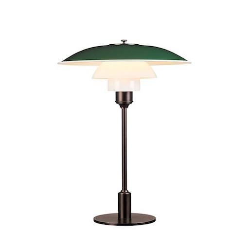 PH 3 1/2-2 1/2 台灯 (綠色頂罩)