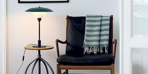 PH 3 1/2-2 1/2 TABLE LAMP IN GREEN FINISH