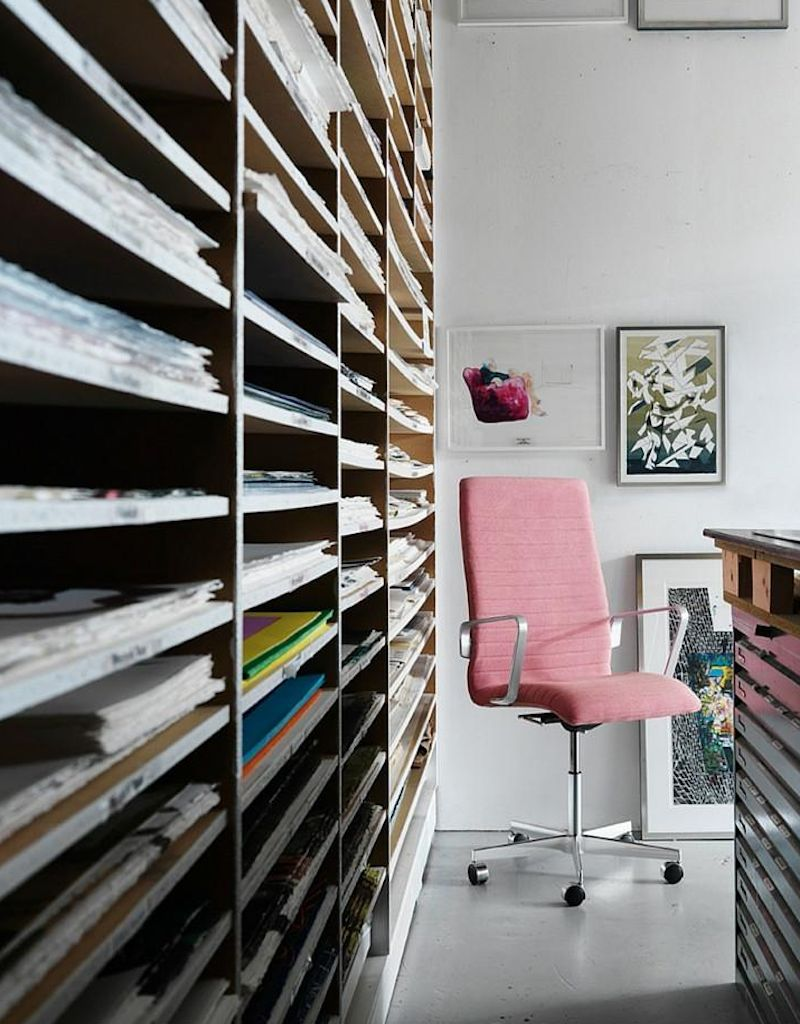 OXFORD紅白色布艺高级扶手办公椅