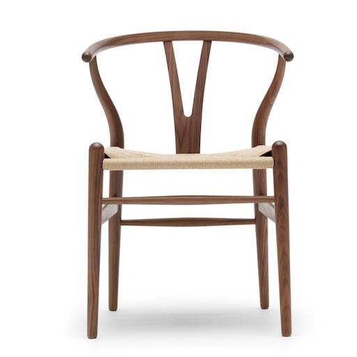 CH24 烟熏橡木叉骨餐椅