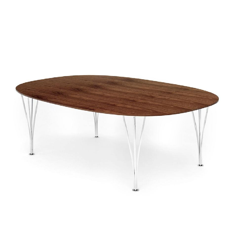 B614 SUPER-ELLIPTICAL TABLE IN WALNUT