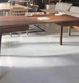 MATZ 实木核桃木桌子连两个抽屉