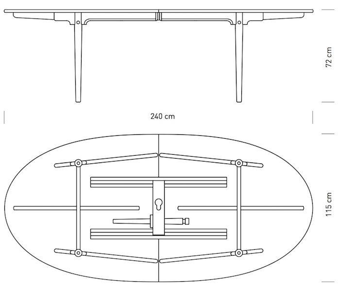 CH339 可延伸餐桌
