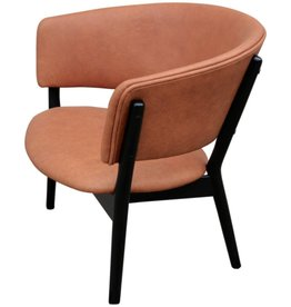 ND83 LOUNGE CHAIR, WENGE WOOD FRAME