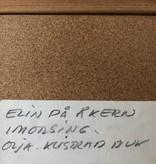 """ELIN在田间"" 稀有油畫連框"