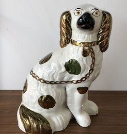 STAFFORDSHIRE EARTHENWARE KING CHARLES SPANIEL