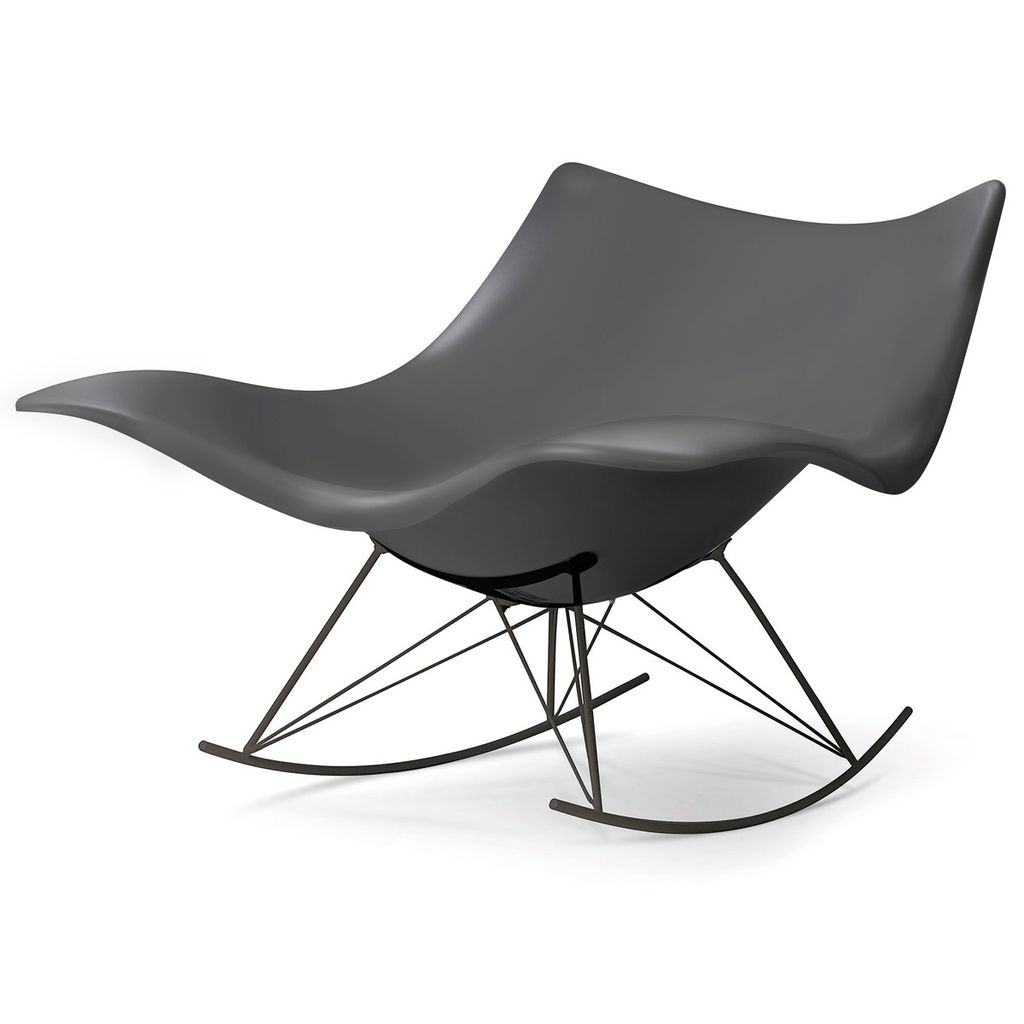 3500 STINGRAY ROCKING CHAIR IN MATT DARK GREY