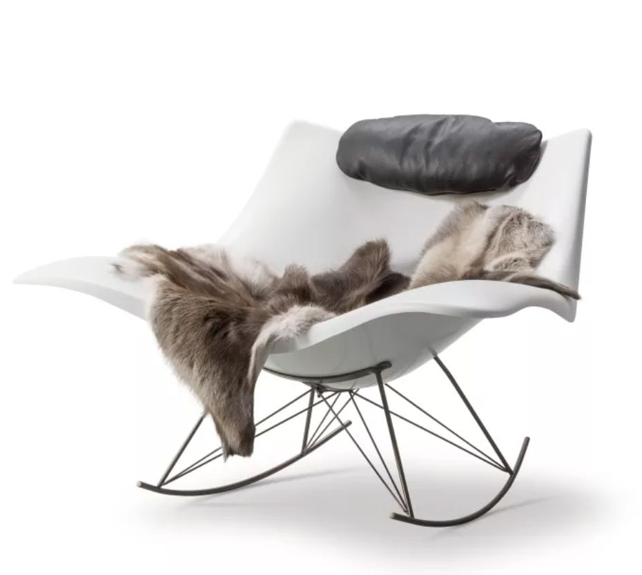 STINGRAY MATT WHITE ROCKING CHAIR
