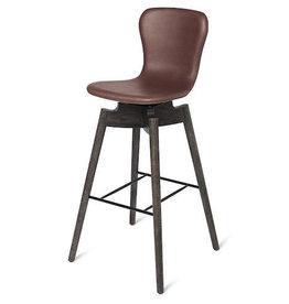 ULTRA COGNAC皮革坐墊 SHELL贝壳吧椅