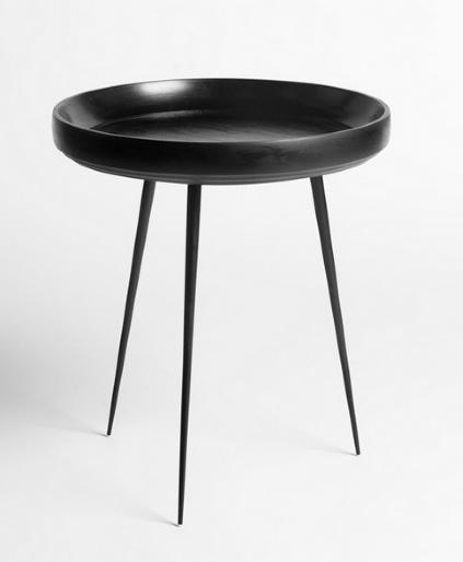 MANGO BOWL SMALL TABLE, BLACK STAIN FINISHED MANGO WOOD