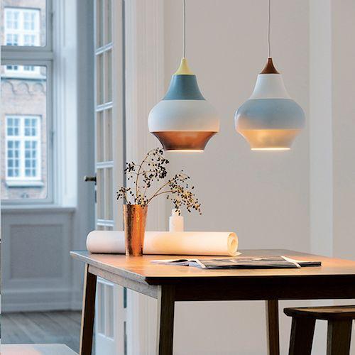 LOUIS POULSEN CIRQUE PENDANT LAMP, TOP IN WET PAINTED YELLOW