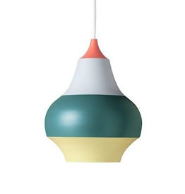 LOUIS POULSEN CIRQUE PENDANT LAMP, TOP IN WET PAINTED RED