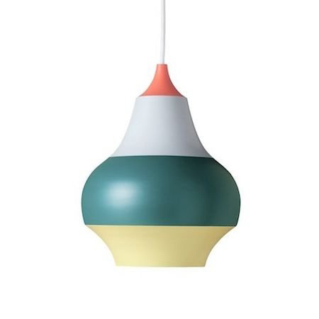 CIRQUE PENDANT LAMP, TOP IN WET PAINTED RED