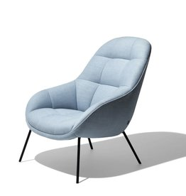 WON DESIGN MANGO LOUNGE CHAIR IN ICE BLUE FABRIC