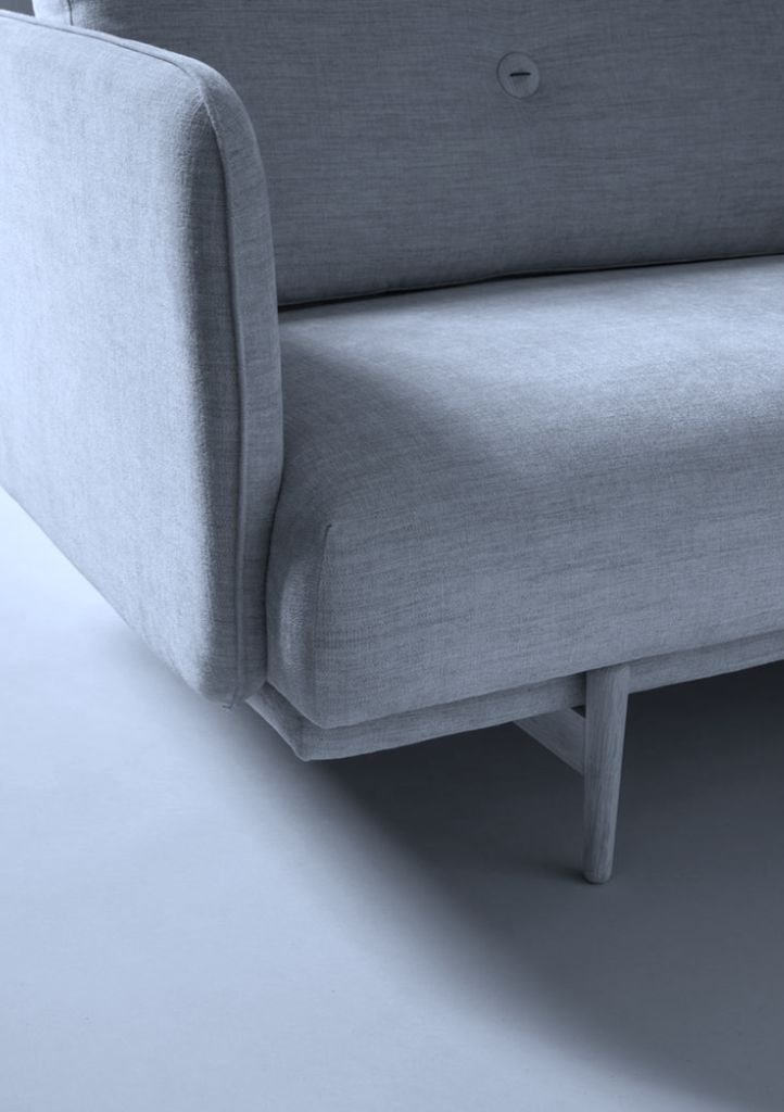 WON DESIGN HOLD 2.5 SEATER SOFA  IN ICE BLUE FABRIC