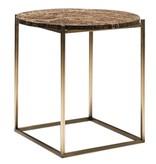 WENDELBO CIRCLE OCCASIONAL TABLE IN DARK EMPERADOR MARBLE