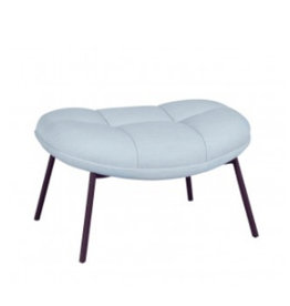 WON DESIGN MANGO FOOT REST IN ICE BLUE FABRIC