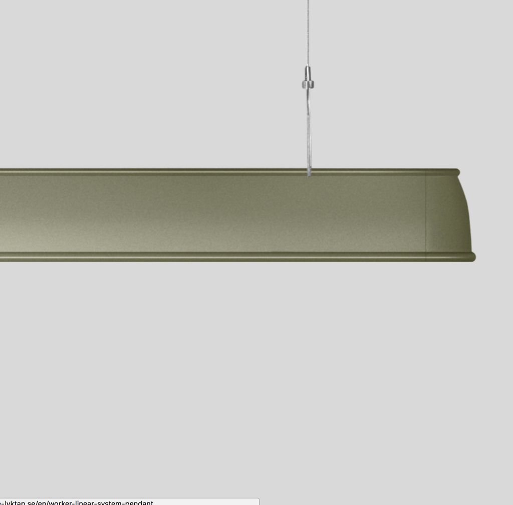 (SHOWROOM ITEM) L0111 WORKER LINEAR SINGLE LUMINARE PENDANT LAMP