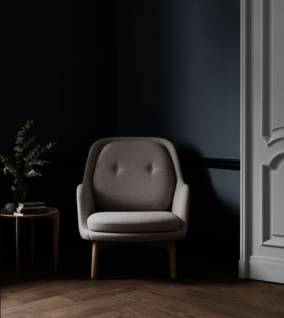 JH5 FRI EASY CHAIR IN GREY COLOUR DESIGNER SELECTION