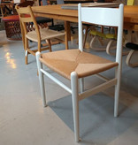 CARL HANSEN & SON (DISPLAY) CH36 DINING CHAIR IN WHITE LACQUERED BEECH