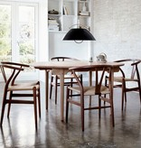 4 x CH24 WISHBONE DINING CHAIR IN WALNUT WITH PAPERCORD SEAT