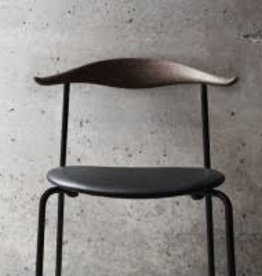 4 x CH88P DINING CHAIR IN SMOKED OAK WITH THOR LEATHER SEAT