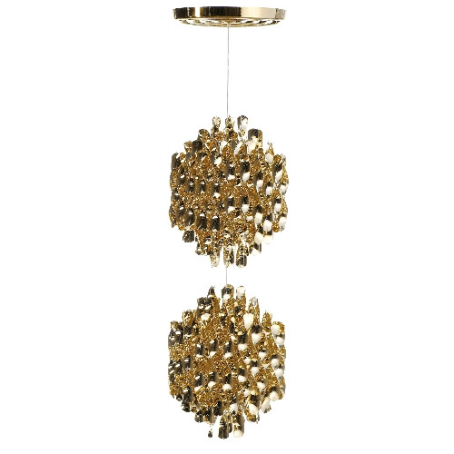 SP2金色螺旋形吊灯