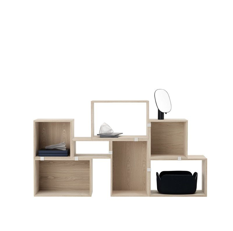 WHITE OPEN STACKED STORAGE SYSTEM, LARGE