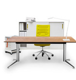 SPINAL ELECTRICAL WORK DESK W/OAK VENEER TABLETOP