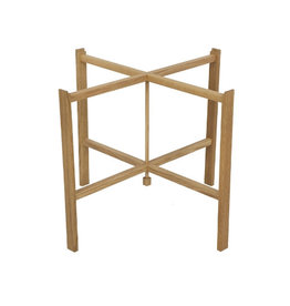 1035-65/50 FOLDABLE TRAY STAND IN OILED SOLID OAK