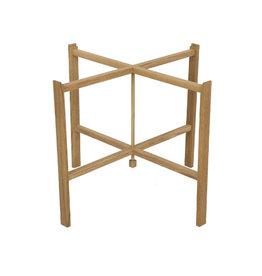 油妝橡木可折疊托盤架 (65厘米直径)