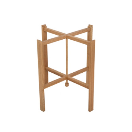 FOLDABLE TRAY STAND IN OILED SOLID OAK