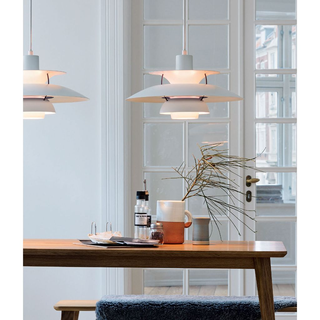 PH 5 CONTEMPORARY PENDANT LAMP IN CLASSIC WHITE